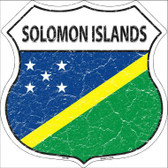 Solomon Islands Country Flag Highway Shield Metal Sign