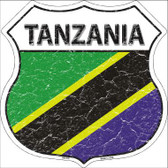 Tanzania Country Flag Highway Shield Metal Sign