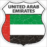 United Arab Emirates Country Flag Highway Shield Metal Sign