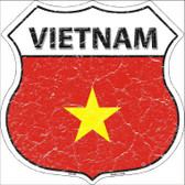 Vietnam Country Flag Highway Shield Metal Sign