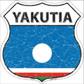 Yakutia Country Flag Highway Shield Metal Sign