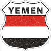 Yemen Country Flag Highway Shield Metal Sign