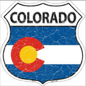 Colorado State Flag Highway Shield Metal Sign