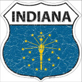 Indiana State Flag Highway Shield Metal Sign