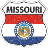 Missouri State Flag Highway Shield Metal Sign