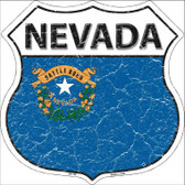 Nevada State Flag Highway Shield Metal Sign