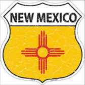 New Mexico State Flag Highway Shield Metal Sign