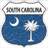 South Carolina State Flag Highway Shield Metal Sign