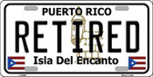Retired Puerto Rico Metal Novelty License Plate LP-6865