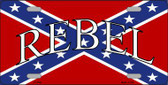 Rebel Confederate Flag Metal Novelty License Plate LP-4345