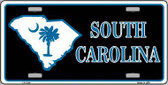 South Carolina Flag Novelty Metal License Plate
