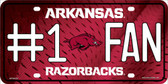 Arkansas Fan Deluxe Metal Novelty License Plate