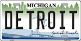 Detroit Michigan Metal Novelty License Plate LP-6107