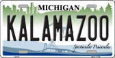 Kalamazoo Metal Novelty License Plate