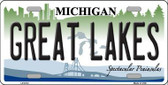 Great Lakes Michigan Metal Novelty License Plate LP-6112