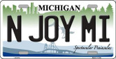 N Joy Mi Michigan Metal Novelty License Plate LP-6113