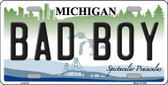 Bad Boy Michigan Metal Novelty License Plate LP-6115