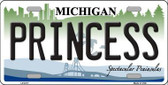 Princess Michigan Metal Novelty License Plate LP-6117
