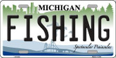 Fishing Michigan Metal Novelty License Plate LP-6124