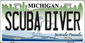 Scuba Diver Michigan Metal Novelty License Plate LP-6130