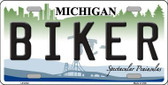 Biker Michigan Metal Novelty License Plate LP-6132