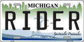 Rider Michigan Metal Novelty License Plate LP-6133