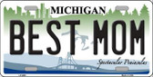 Best Mom Michigan Metal Novelty License Plate LP-6661