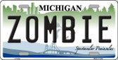 Zombie Michigan Metal Novelty License Plate LP-6702