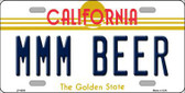 MMM Beer California Novelty Metal License Plate LP-6859