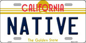 Native California Novelty Metal License Plate LP-6837