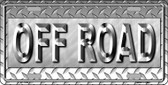 Off Road Novelty Metal License Plate