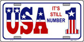 USA Still 1 Novelty Metal License Plate