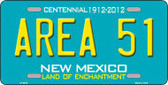 Area 51 New Mexico Novelty Metal License Plate LP-6674