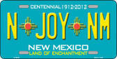 N Joy NM New Mexico Novelty Metal License Plate LP-6678