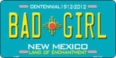 Bad Girl New Mexico Novelty Metal License Plate LP-6680