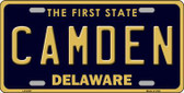 Camden Delaware Novelty Metal License Plate LP-6707