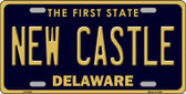 New Castle Delaware Novelty Metal License Plate LP-6708