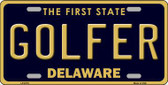 Golfer Delaware Novelty Metal License Plate LP-6719