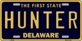 Hunter Delaware Novelty Metal License Plate LP-6720