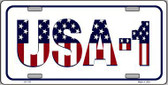 USA 1 Novelty Metal License Plate