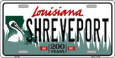 Shreveport Louisiana Novelty Metal License Plate