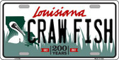 Craw Fish Louisiana Novelty Metal License Plate