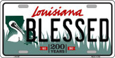 Blessed Louisiana Novelty Metal License Plate