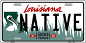Native Louisiana Novelty Metal License Plate