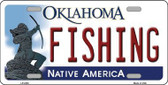 Fishing Oklahoma Novelty Metal License Plate LP-6238