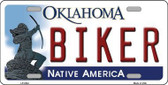 Biker Oklahoma Novelty Metal License Plate LP-6244