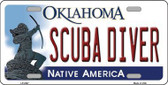 Scuba Diver Oklahoma Novelty Metal License Plate LP-6247