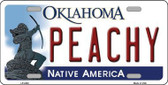 Peachy Oklahoma Novelty Metal License Plate LP-6248