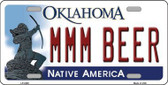 MMM Beer Oklahoma Novelty Metal License Plate LP-6249