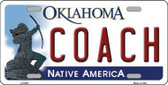 Coach Oklahoma Novelty Metal License Plate LP-6251